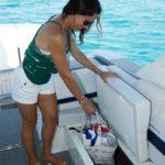 Tekne koltuk altı eşyalar için
